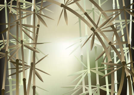 china wall: illustration of bamboo forest Illustration