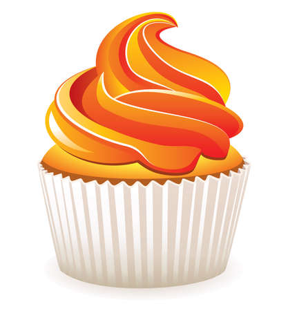home baked: cupcake with orange cream