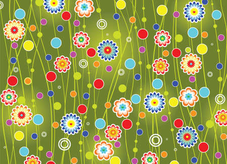 flower drawings: vector floral background