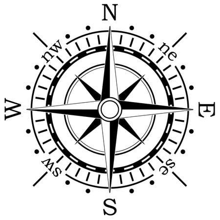 north arrow: vector black compass
