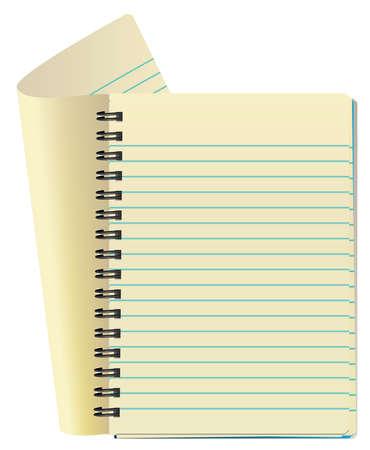 vector illustration of notepad Vector