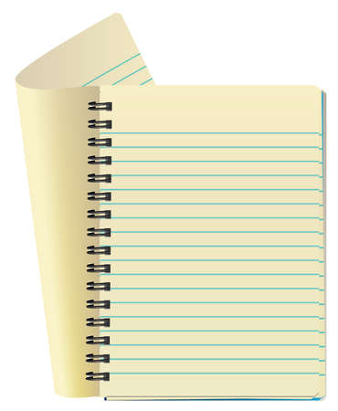 perforation: vector illustration of notepad