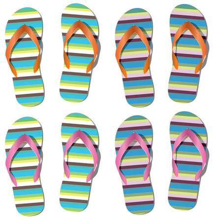 set of flip flops  Stock Vector - 7587868