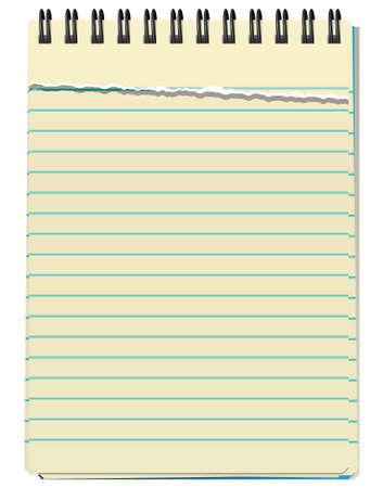 Illustration du bloc-notes