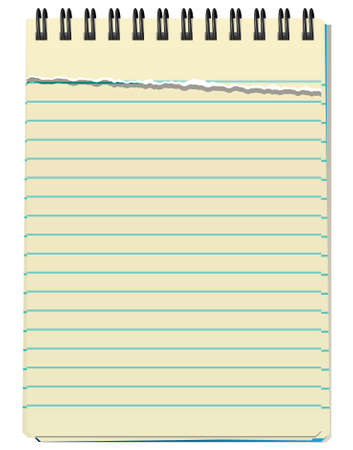notebook paper background:  illustration of notepad
