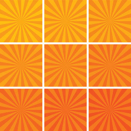 retro sunrise:  retro background set Illustration