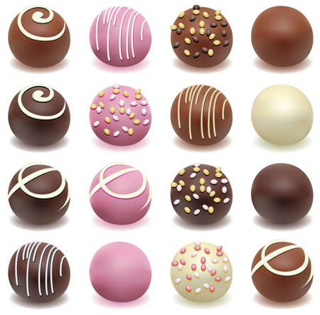 sweet love: chocolate candies