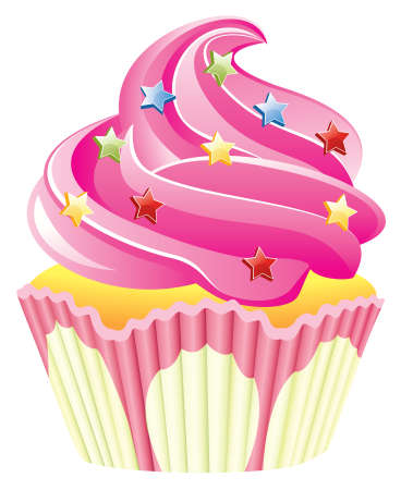 pink cupcake with sprinkles Stock Vector - 7696885