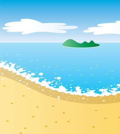 illustration of tropical beach Vector