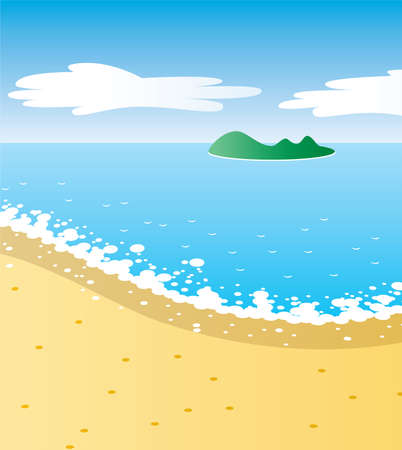 illustration of tropical beach Vector