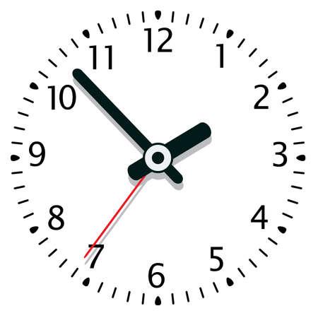 wijzerplaat: illustratie van een klok