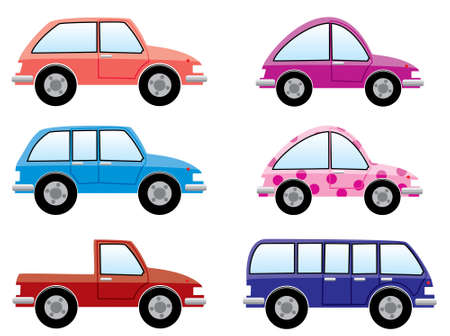 set of colorful cars Stock Vector - 7696922