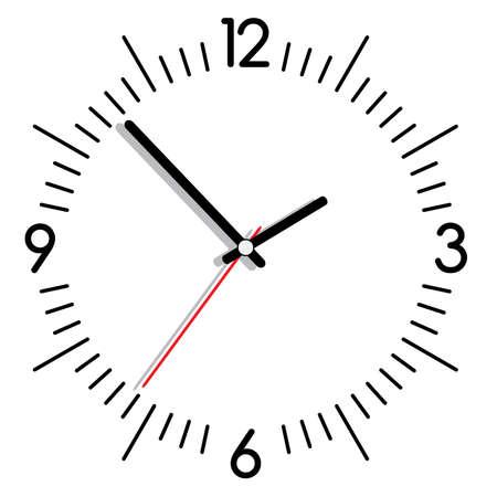 pointer stick: illustrazione di un orologio Vettoriali