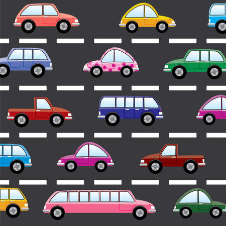 vector cars on the road Stock Vector - 7743967