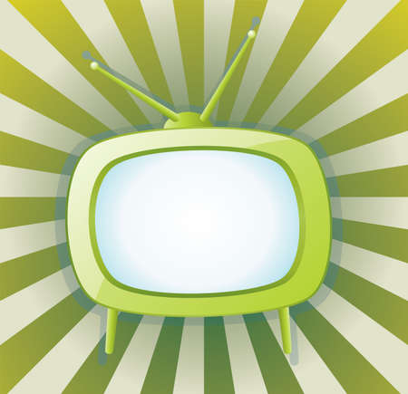 retro tv set Stock Vector - 7743962
