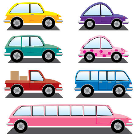 set of colorful cars Stock Vector - 7782185