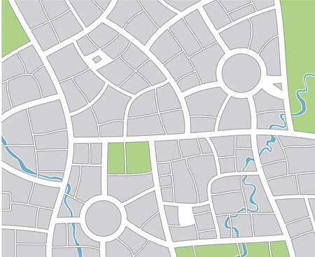 road map:   city map