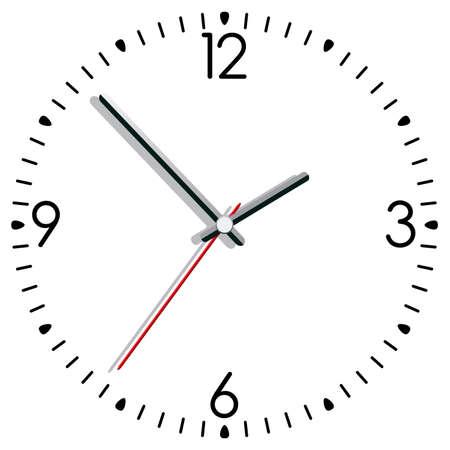 illustration of a clock Vector