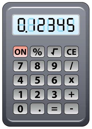 gray calculator Stock Vector - 7782180