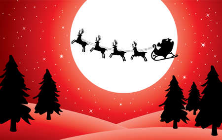 holiday background with santa Stock Vector - 7782209
