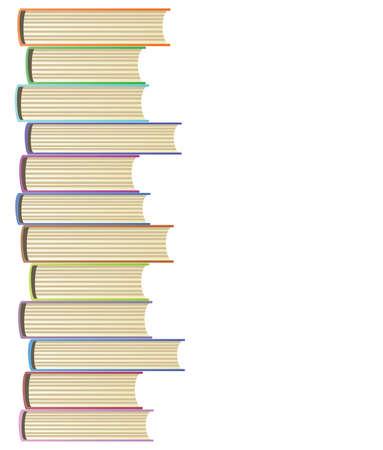 stapel papieren:   illustratie van boeken Stock Illustratie