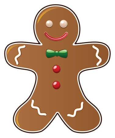 cookie de pan de jengibre  Ilustración de vector