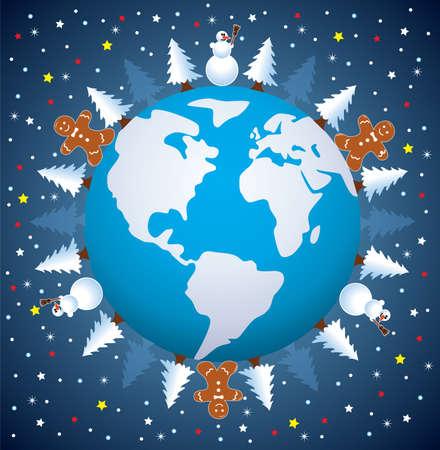 holiday cookies: Fondo de vacaciones de invierno  Vectores