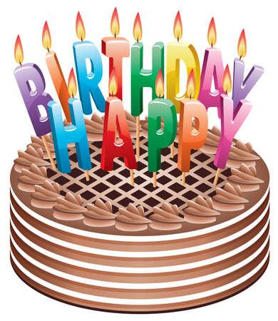 chocolate melt: torta di compleanno al cioccolato con candele di masterizzazione