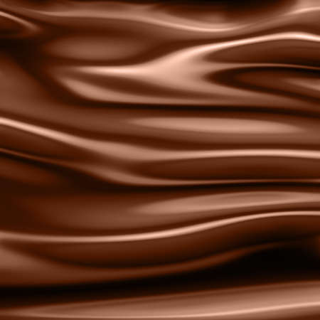 chocolate melt: abstract wavy chocolate background Stock Photo