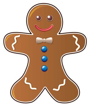 gingerbread cookie Stock Vector - 8026848
