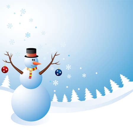 design with a happy snowman Stock Vector - 8145240