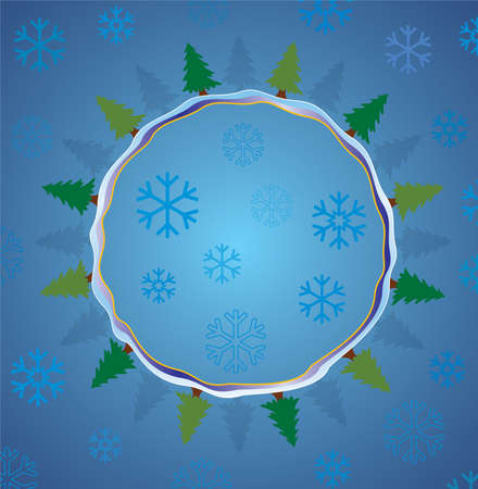 winter holiday background Stock Vector - 8145225