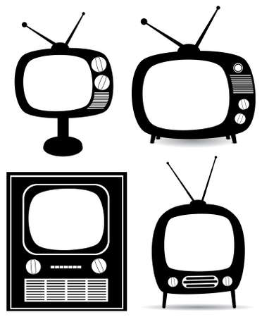 retro tv: retro tv set Illustration