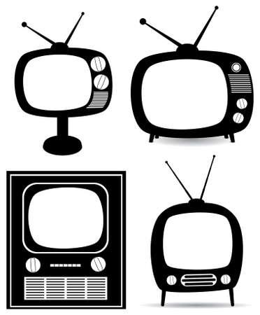 retro tv set Stock Vector - 8145048