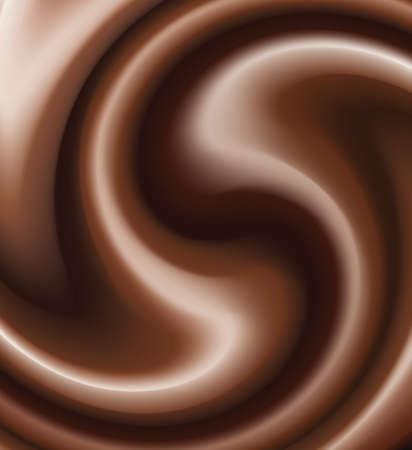 cremoso: remolinos de vector de chocolate  Vectores