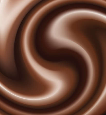 vector chocolate swirl Stock Vector - 8219591