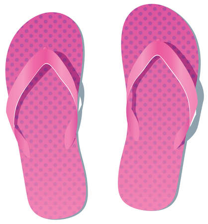 slippers: vector pair of flip flops