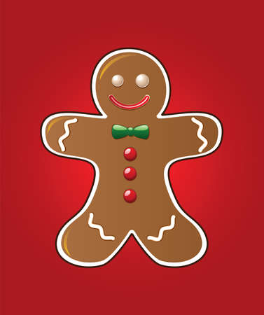gingerbread cookie: vector gingerbread cookie