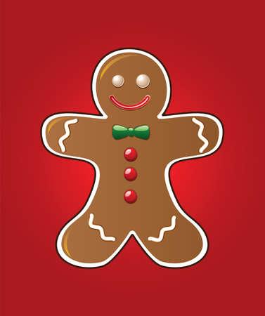 gingerbread man: vector gingerbread cookie