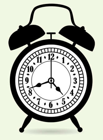 cartoon tick: vector illustration of alarm clock