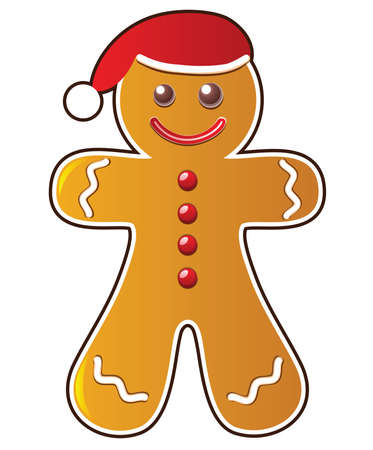 vector gingerbread cookie Vector