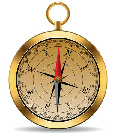 vector vintage compass Stock Vector - 8297633