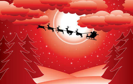 holiday background with santa Stock Vector - 8355062