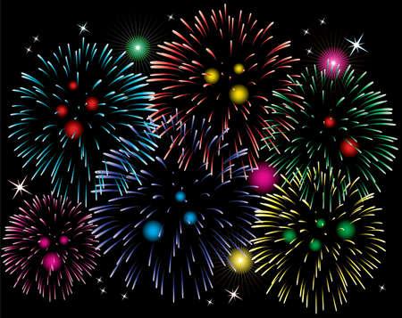 fireworks background Stock Vector - 8355085