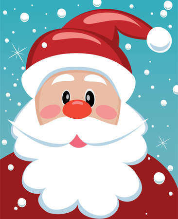 xmas illustration of santa with big beard for your text Vector