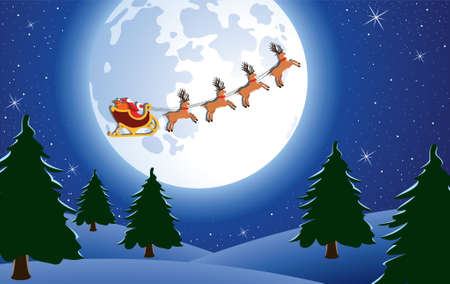 xmas holiday background with santa Vector