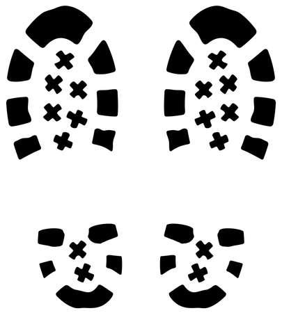 vector illustration of mans foot prints Vector