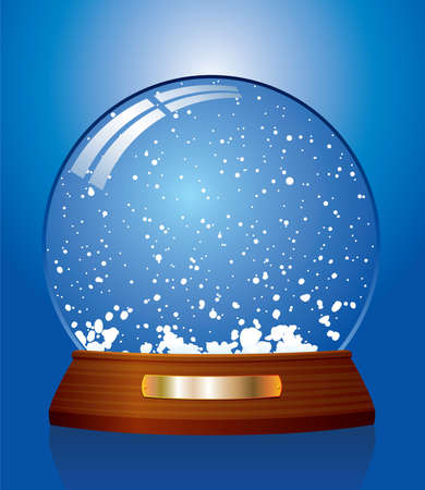 illustration of snow globe Vector