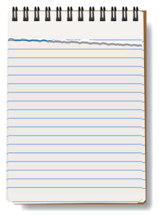 perforation: vector illustration of notepad with torn sheet Illustration