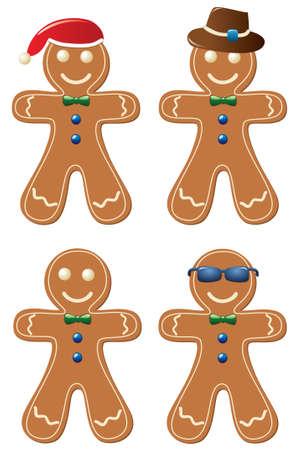 lebkuchen: Vektor-Satz von Lebkuchen cookies
